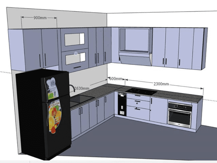 bản vẽ thiết kế tủ bếp