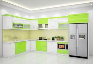 lựa chọn tủ bếp nhôm kính hay tủ nhựa